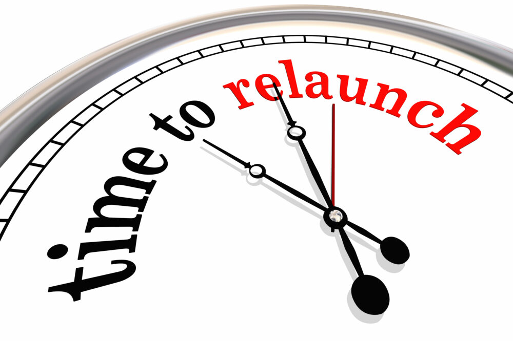 Time to Relaunch Clock Start Over Again 3d Illustration