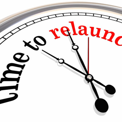 Time to Relaunch Clock Start Over Again 3d Illustration