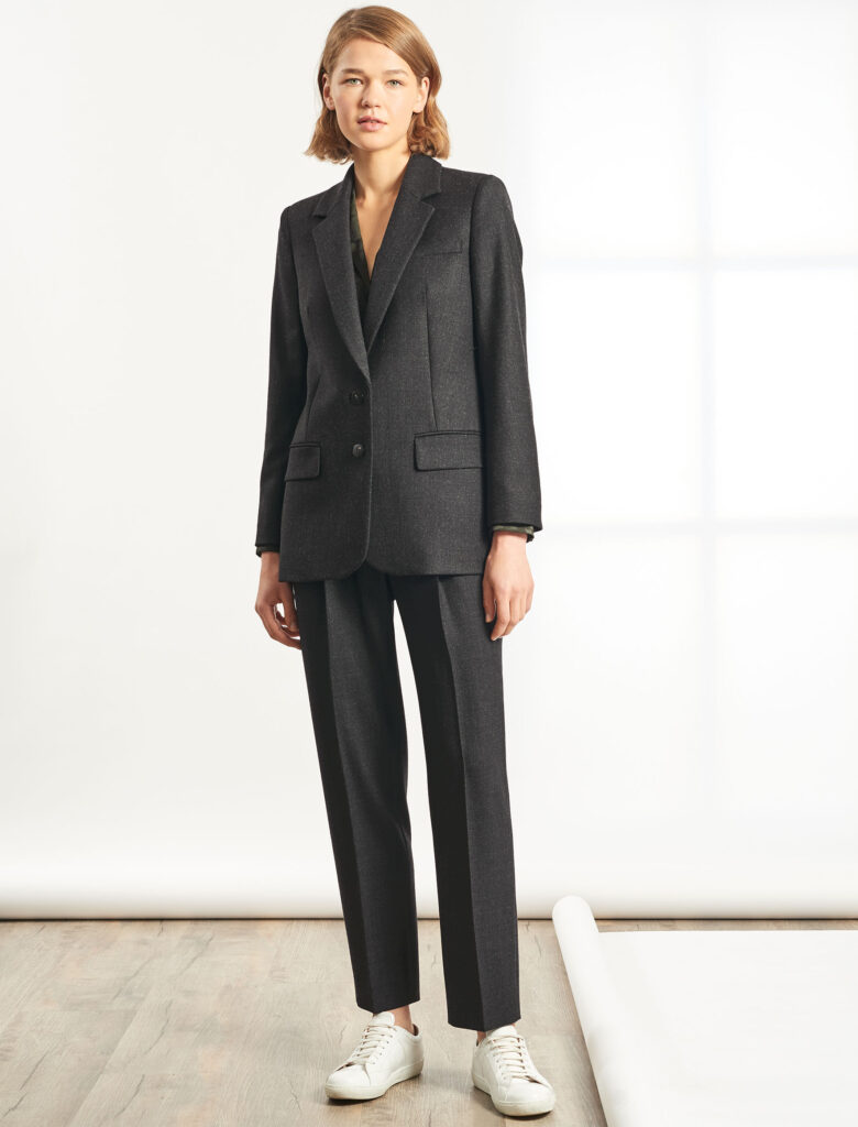 Jordan Relaxed Blazer and Tristin Tapered Trouser, Charcoal